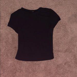 black ribbed t shirt
